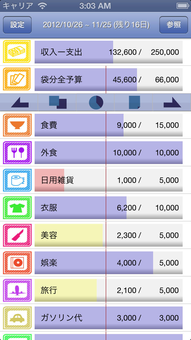 袋分家計簿 Proのスクリーンショット_1
