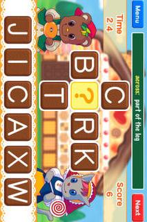 英単語クロスワード「FLASH! Crossword」のスクリーンショット_1