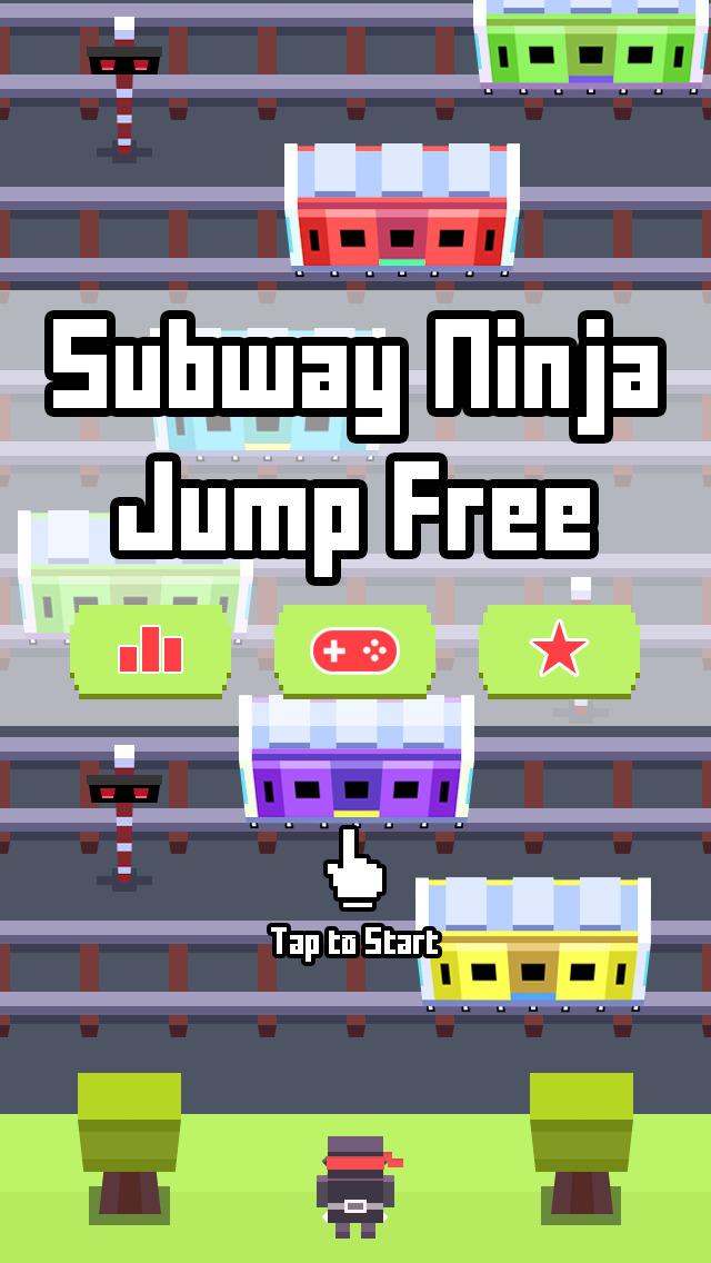 Subway Ninja Jump 〜無限に続く忍者タップアクションゲーム〜のスクリーンショット_2
