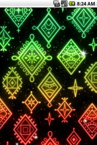 光る模様 ライブ壁紙03のスクリーンショット_2