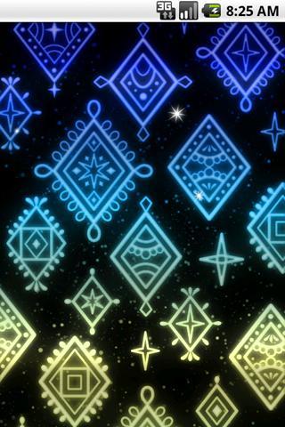 光る模様 ライブ壁紙03のスクリーンショット_3