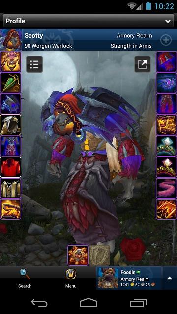 World of Warcraft Armoryのスクリーンショット_1