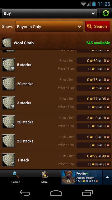 World of Warcraft Armoryのスクリーンショット_3