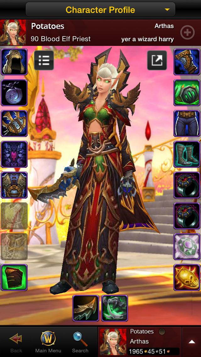 World of Warcraft Mobile Armoryのスクリーンショット_2