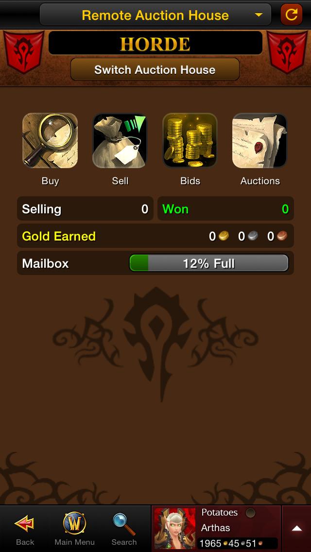 World of Warcraft Mobile Armoryのスクリーンショット_4