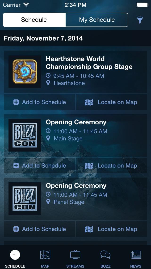 BlizzCon Guideのスクリーンショット_2