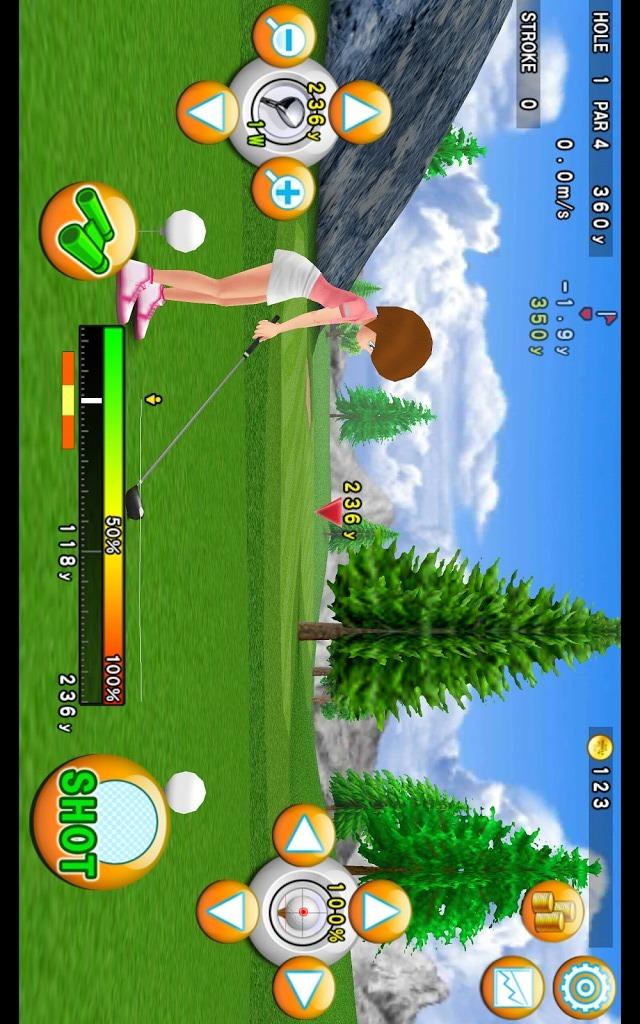 ゴルフモデラ♪Golfコースも作れる無料ゴルフゲームアプリのスクリーンショット_2