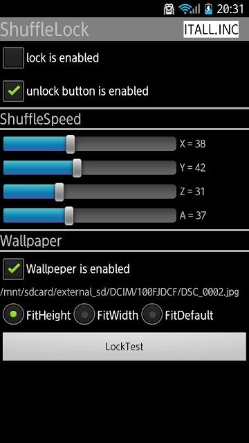 ShuffleLock (シャッフルロック)のスクリーンショット_1