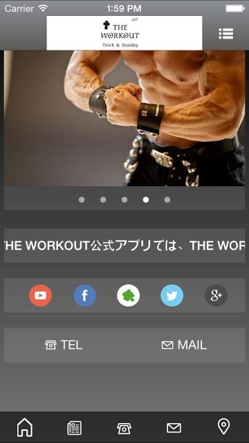 THE WORKOUT 公式アプリのスクリーンショット_2