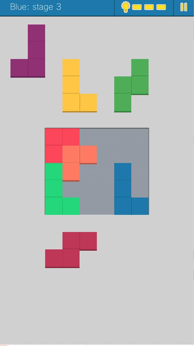 頭が良くなるブロックパズル Fitsのスクリーンショット_1