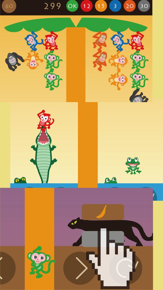 モンキーツリー 動物パズル無料ゲームのスクリーンショット_3