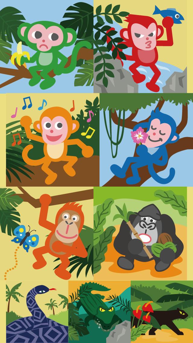 モンキーツリー 動物パズル無料ゲームのスクリーンショット_4
