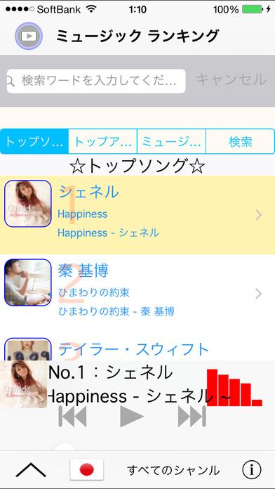 トップ音楽!トップ映画! 連続試聴ベスト200 for iTunesのスクリーンショット_1