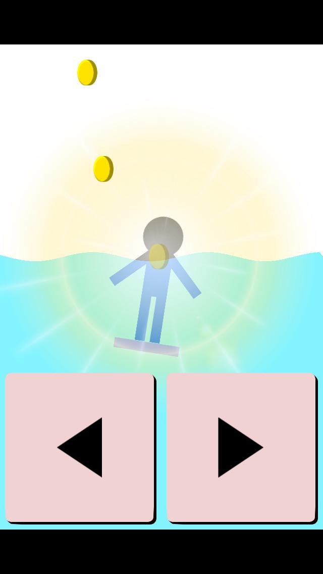 ビート板の上に立つゲームのスクリーンショット_3