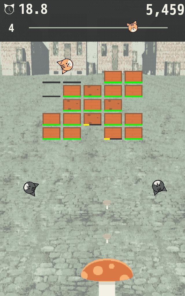 育成ブロック崩し 猫たまボールのスクリーンショット_2