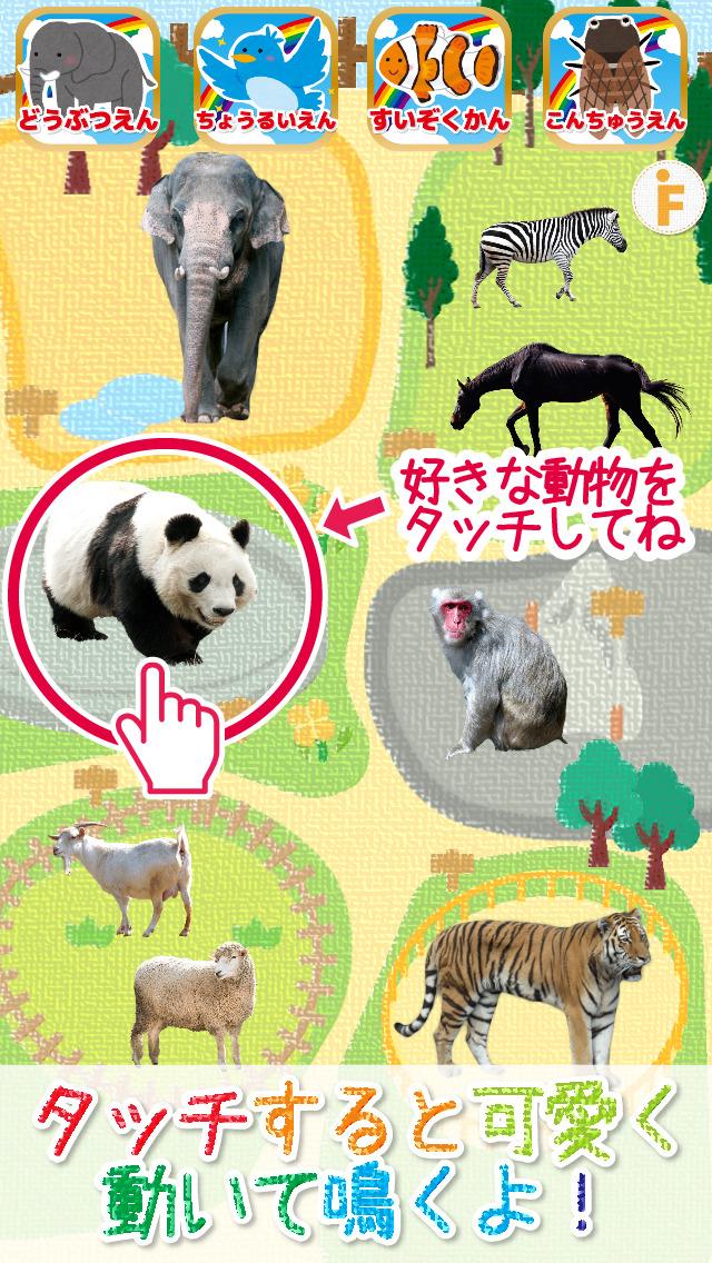 はじめての動物園!-水族館・鳥類園・昆虫園付きのスクリーンショット_1