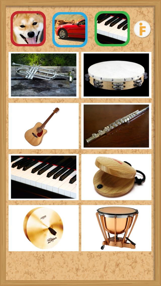 鳴き声タッチ-動物・乗り物・楽器の写真と音のスクリーンショット_4