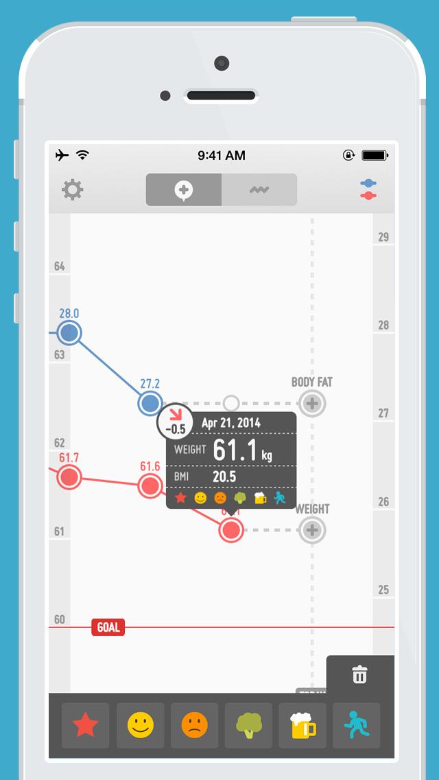 体重記録 PopWeightのスクリーンショット_4