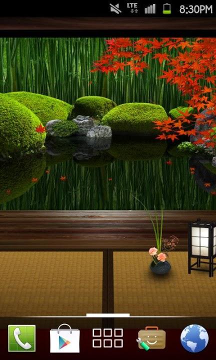 Zen Garden -Fall- ライブ壁紙[FLver]のスクリーンショット_2