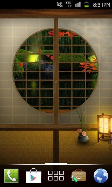 Zen Garden -Fall- ライブ壁紙[FLver]のスクリーンショット_4