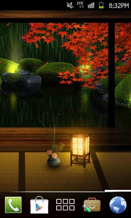 Zen Garden -Fall- ライブ壁紙[FLver]のスクリーンショット_5