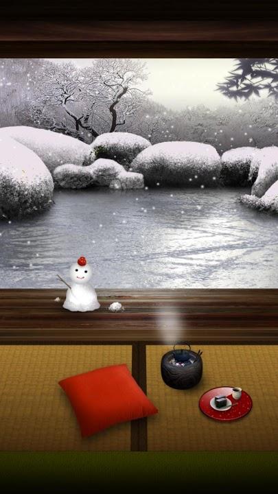ZEN Garden -Winter- ライブ壁紙のスクリーンショット_1