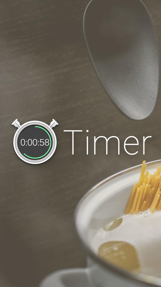 タイマー - 無料のキッチンタイマー&ストップウォッチアプリのスクリーンショット_1