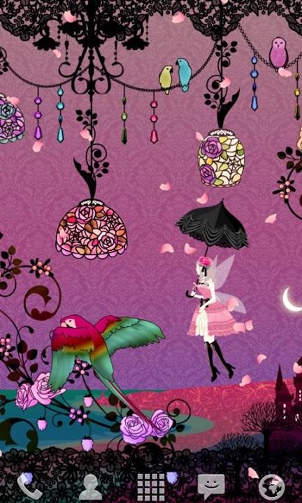 Fairy Night Garden ライブ壁紙のスクリーンショット_2
