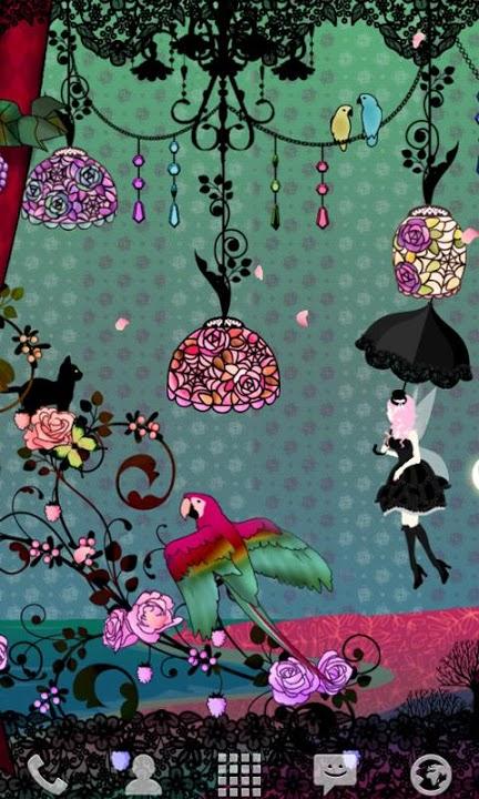 Fairy Night Garden ライブ壁紙のスクリーンショット_4
