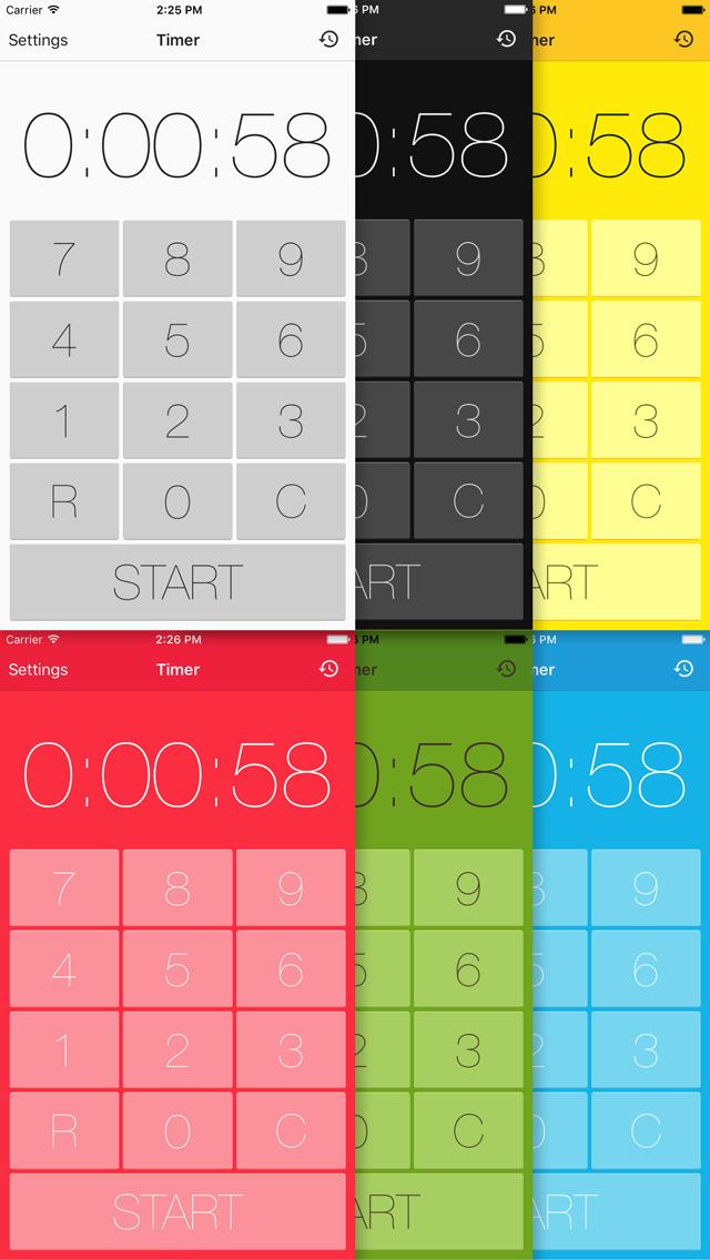 タイマー - 無料のキッチンタイマー&ストップウォッチアプリのスクリーンショット_3