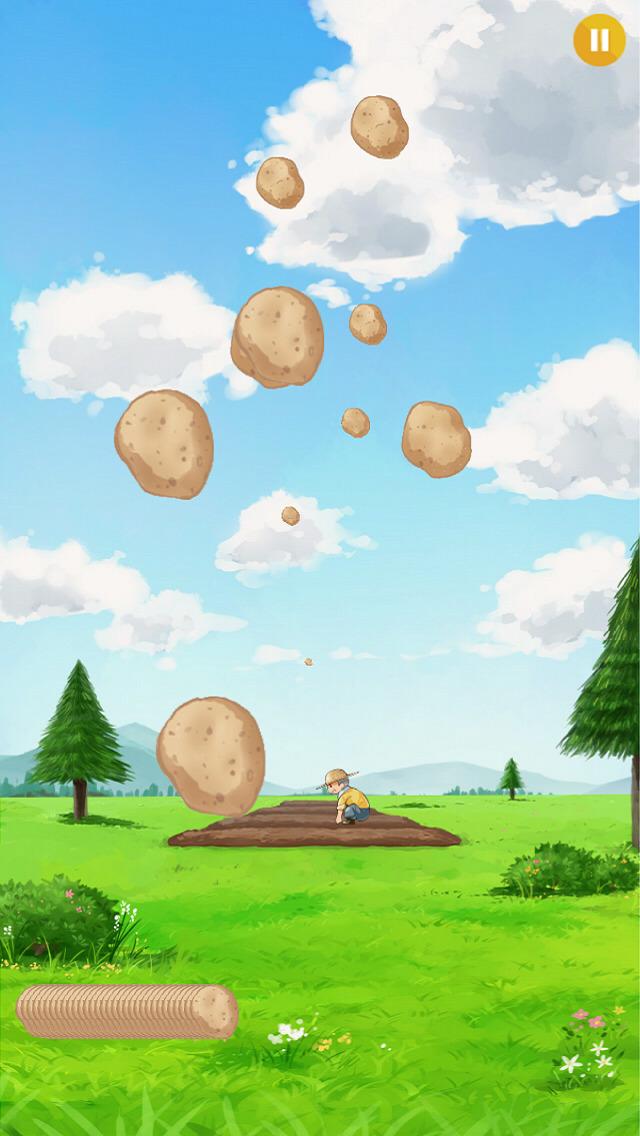 いもキャッチ - 飛んでくるジャガイモをフライヤーでジュワー!のスクリーンショット_3