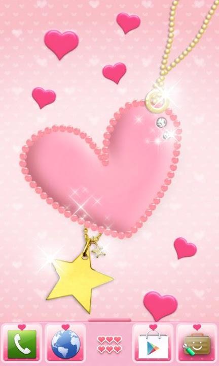 pink heart Themeのスクリーンショット_1