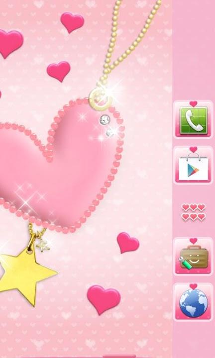 pink heart Themeのスクリーンショット_2
