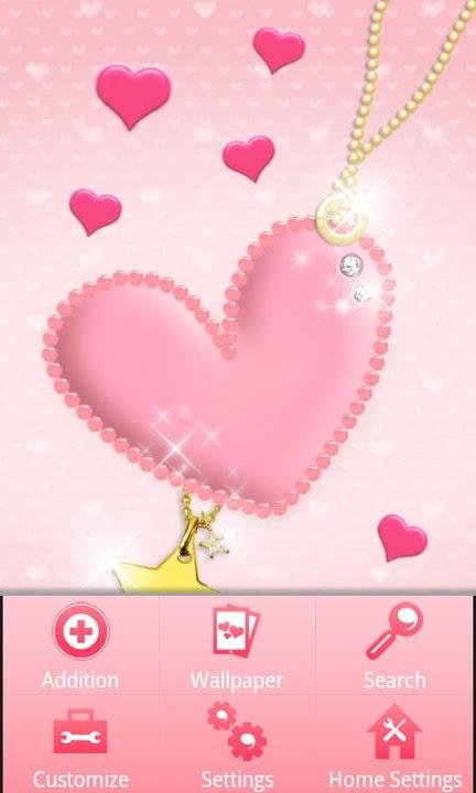 pink heart Themeのスクリーンショット_3