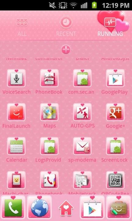 pink heart Themeのスクリーンショット_4
