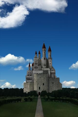 空と城 3Dライブ壁紙のスクリーンショット_1