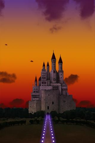 空と城 3Dライブ壁紙のスクリーンショット_2