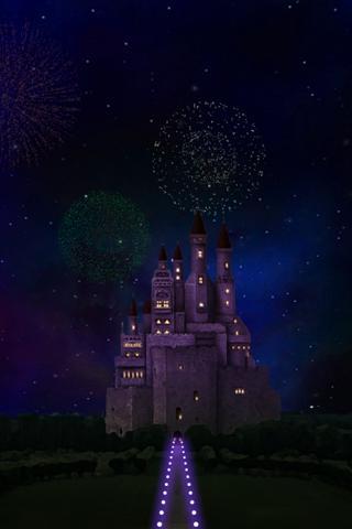 空と城 3Dライブ壁紙のスクリーンショット_3