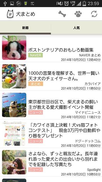 犬まとめ - ワンコ専門ニュースまとめアプリのスクリーンショット_2
