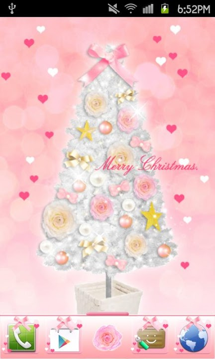 Pinky Christmas Themeのスクリーンショット_1