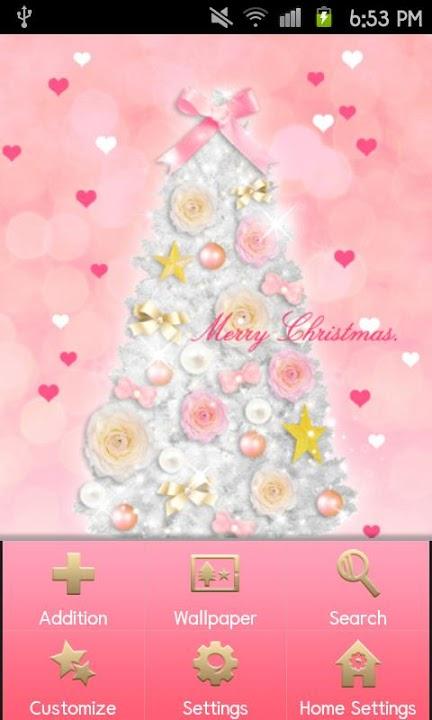 Pinky Christmas Themeのスクリーンショット_2