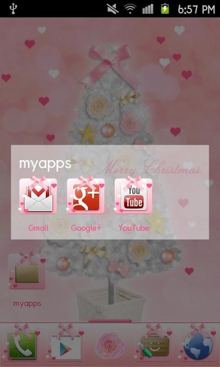 Pinky Christmas Themeのスクリーンショット_5