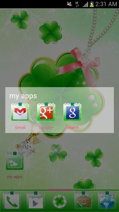 happy clover Themeのスクリーンショット_5