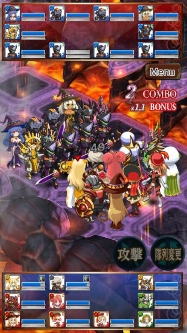 ソウルナイツ ~幻影騎士団~  無料シミュレーションRPGのスクリーンショット_1