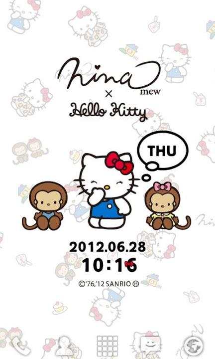 Ninamew×HELLO KITTY ライブ壁紙のスクリーンショット_1
