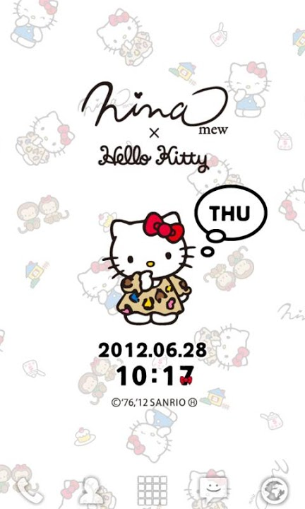 Ninamew×HELLO KITTY ライブ壁紙のスクリーンショット_2