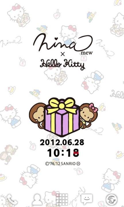 Ninamew×HELLO KITTY ライブ壁紙のスクリーンショット_4