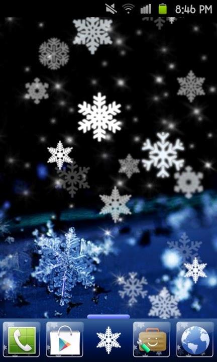 SNOW CRYSTAL Themeのスクリーンショット_1