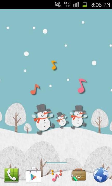 HAPPY SNOWMANS Themeのスクリーンショット_1