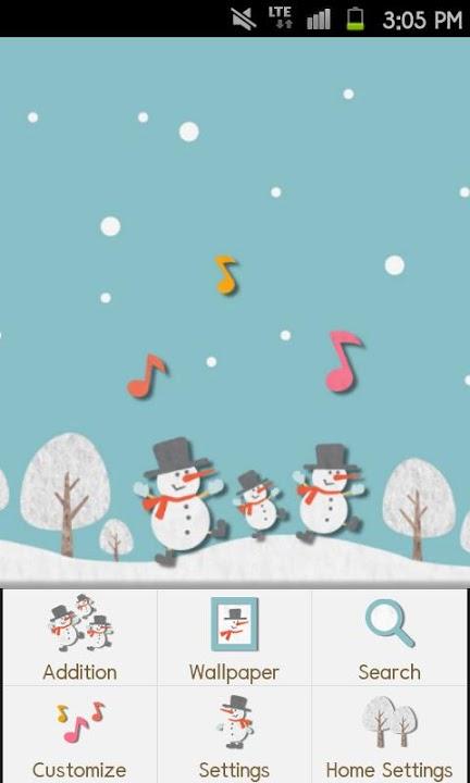 HAPPY SNOWMANS Themeのスクリーンショット_2